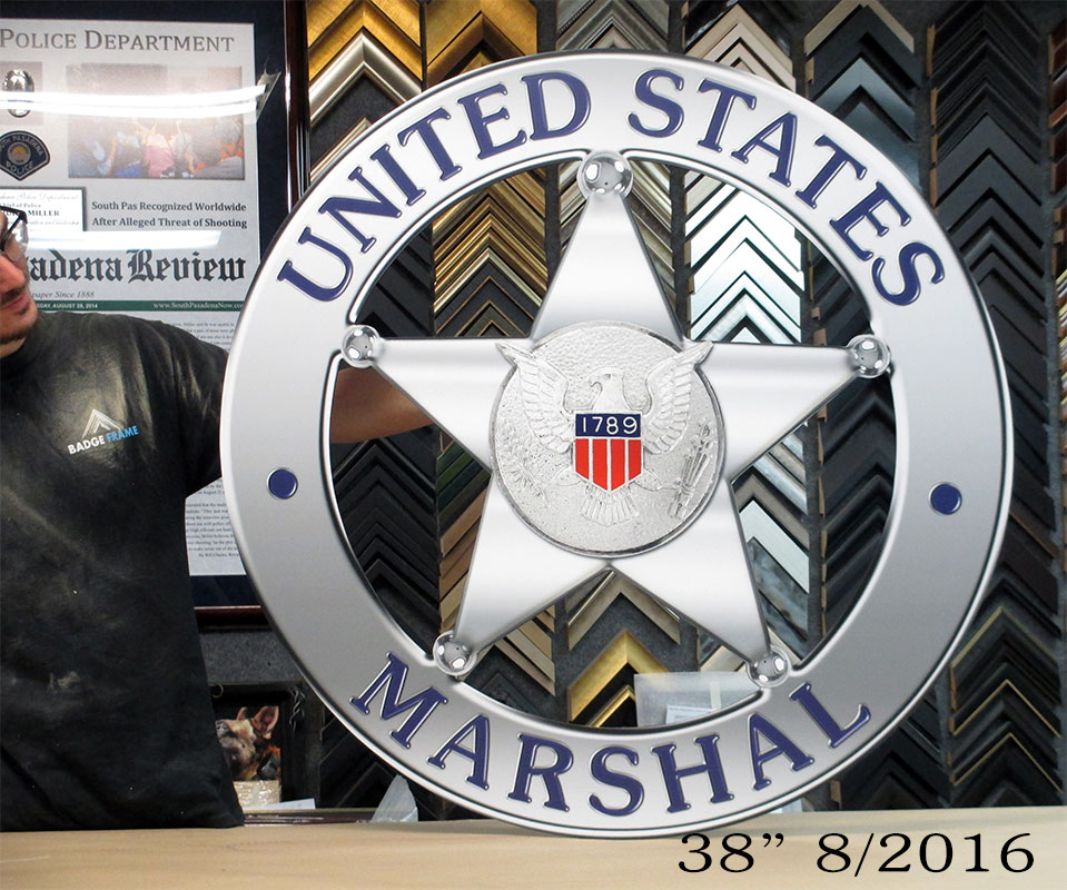 "38"" US Marshals badge           from Badge Frame 8/2016"