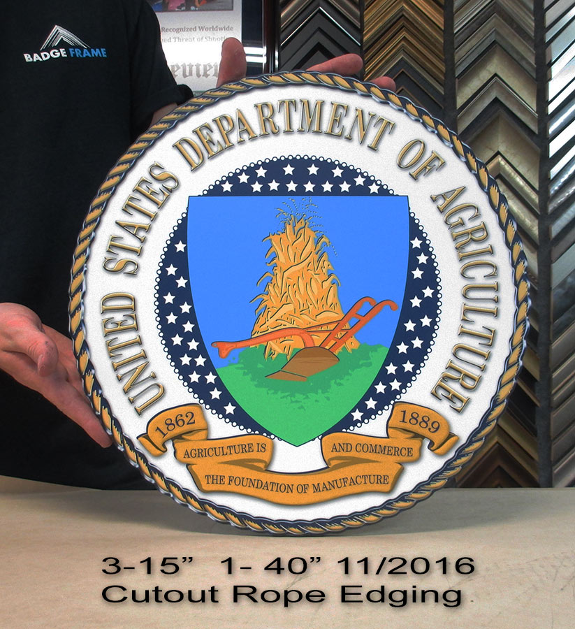 USDA Seals woth rope edging from Badge Frame