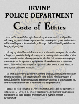 international association of chiefs of police code of ethics