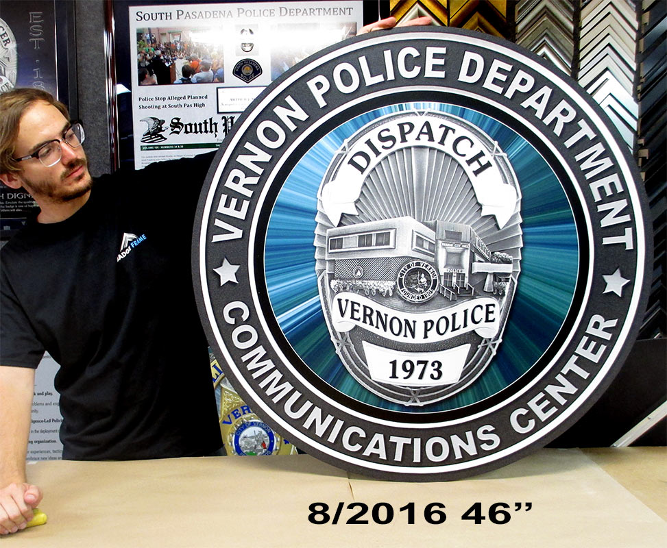 Vernon PD - Dispatch Seal from                                   Badge Frame 8/2016