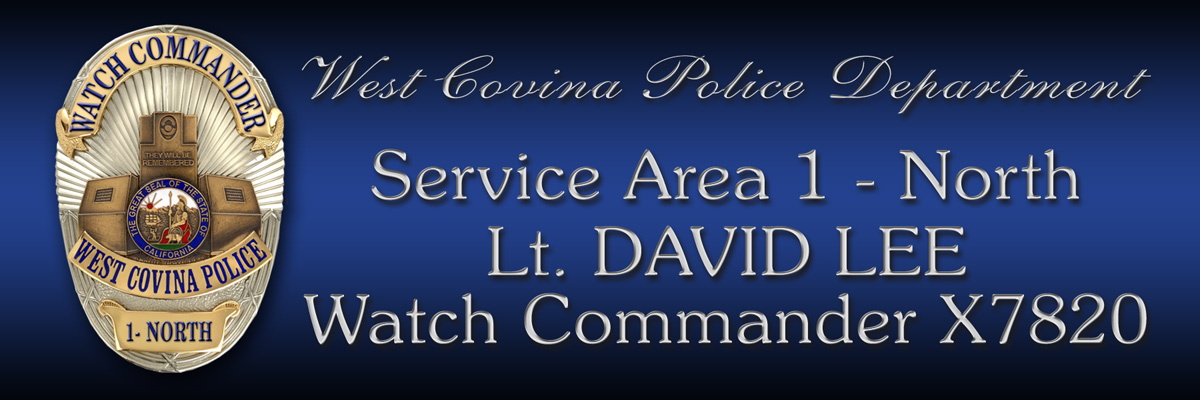 West Covina PD - Dorr                 signs