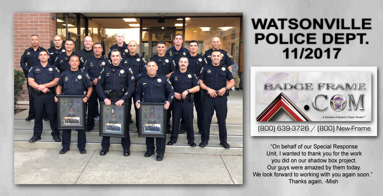 Watsonville PD - Special Response Unit presentations from Badge Frame