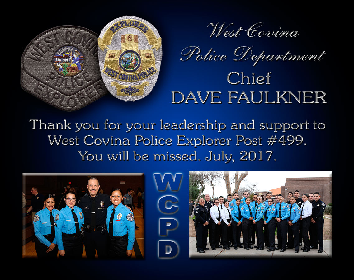 Badge Frame projects for the West Covina Police Department