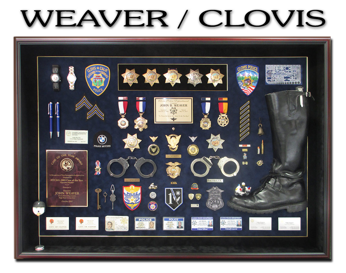 Motors Police Shadowbox from Badge Frame