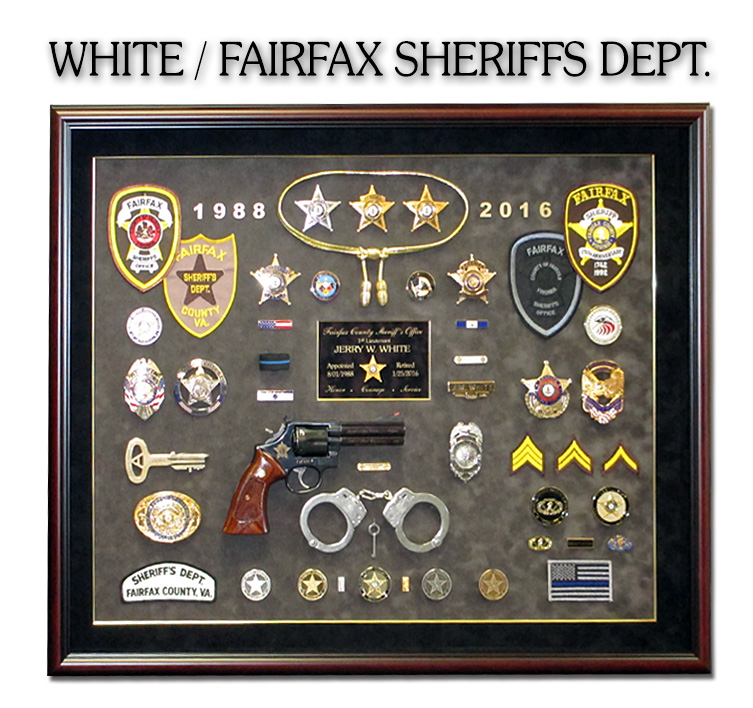 White / Fairfax County Sheriff Presentation from Badge Frame