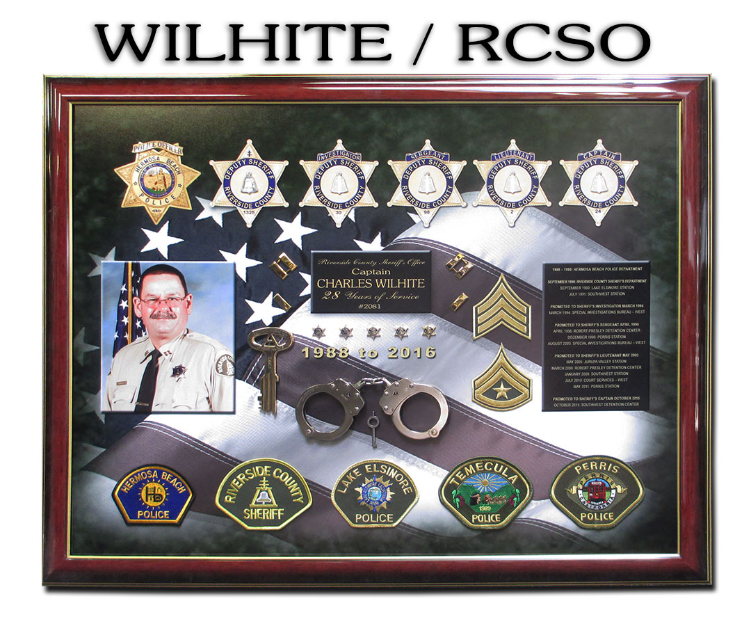 Wilhite - Riverside County           Sheriff's Retirement Presetation from Badge Frame
