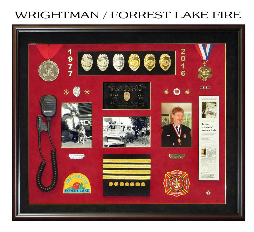 Wrightman -           Forrest Lake Fire Department presentation from Badge Frame