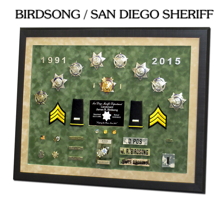 San Diego County Sheriff\'s Museum Projects from Badge Frame