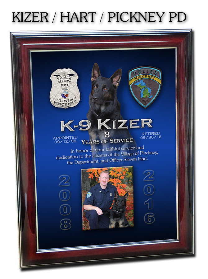 K9 Projects From Badge Frame