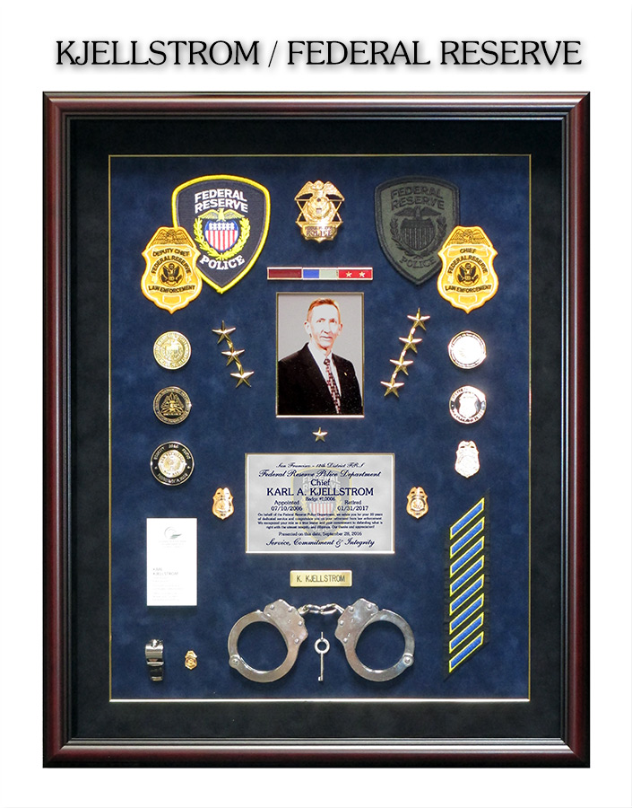 Federal Reserve Shadowbox Projects From Badge Frame