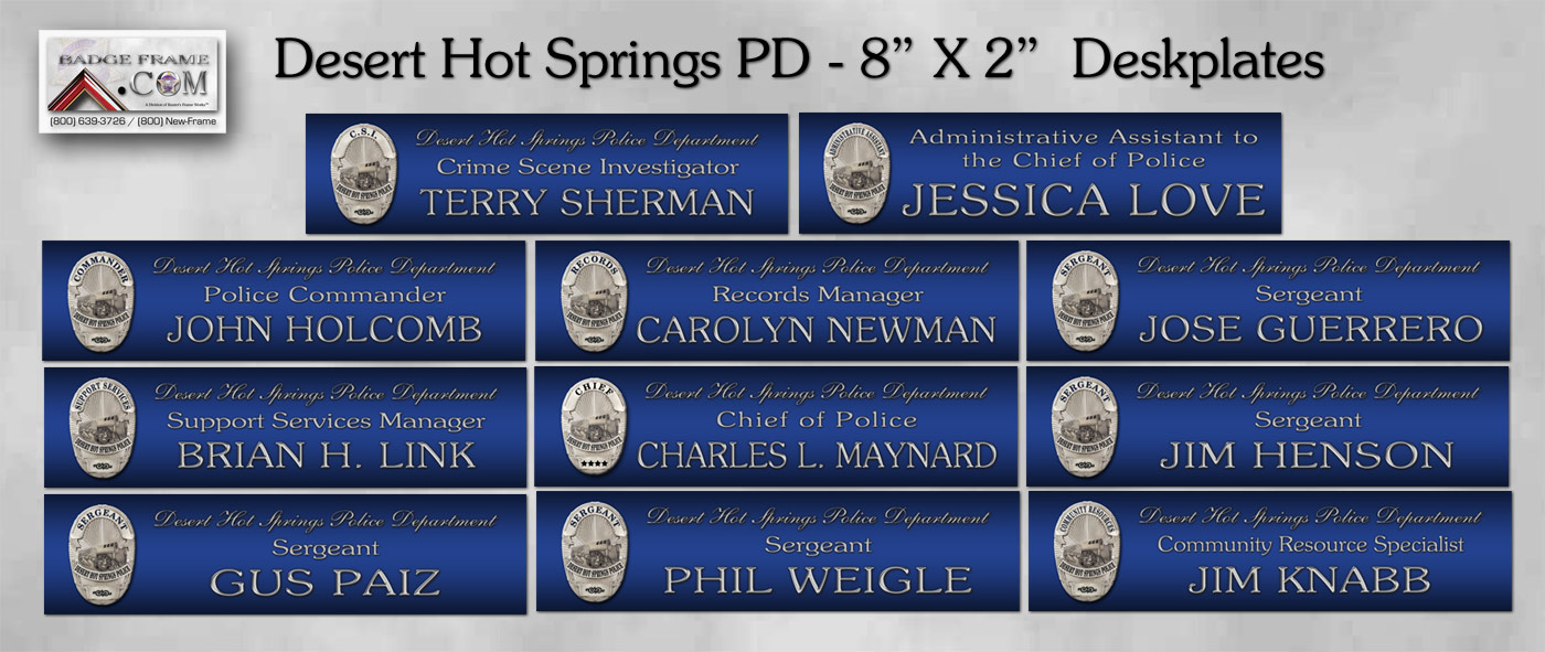 New Custom Desk Nameplates PM46