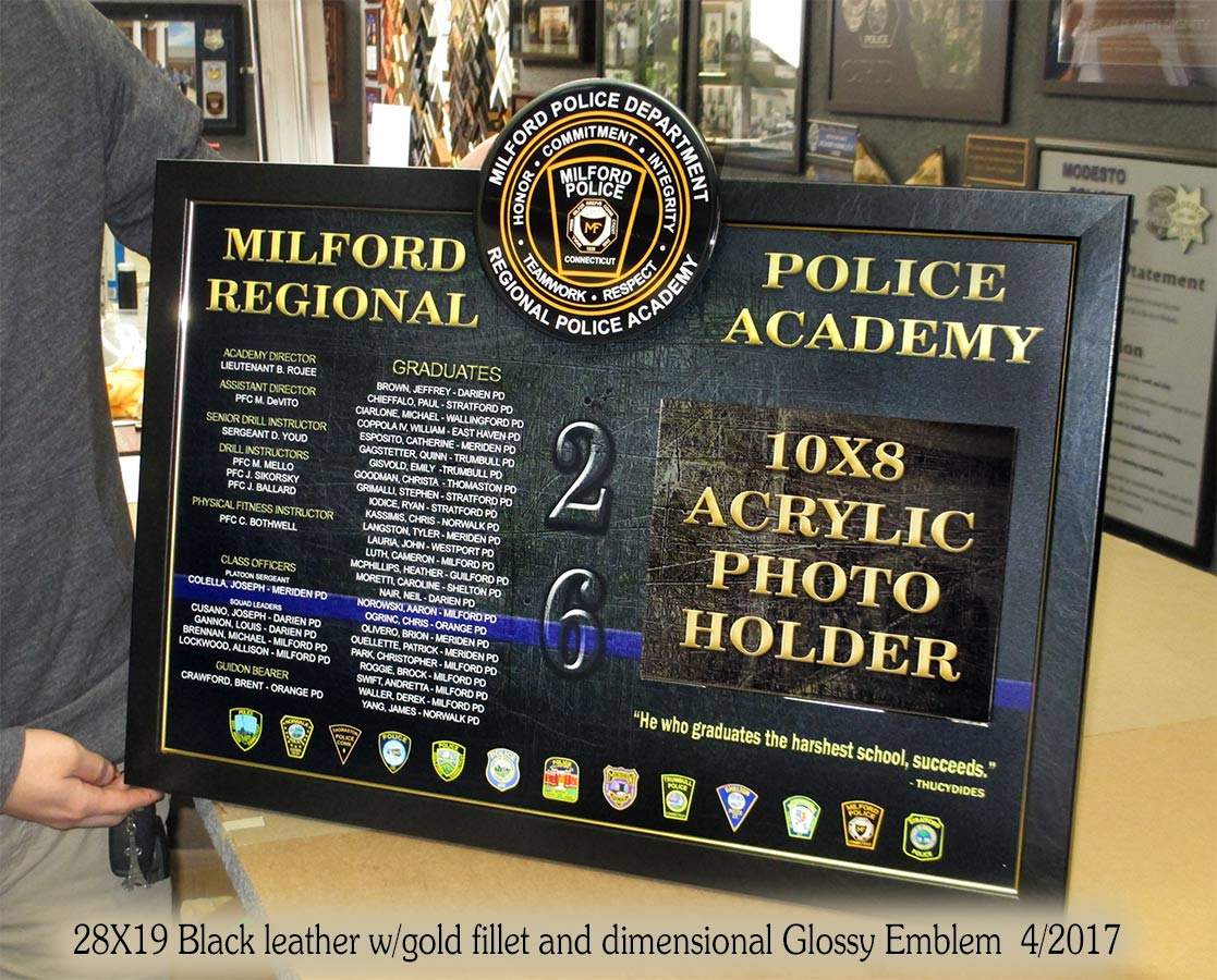 custom academy framing for military and law enforcement