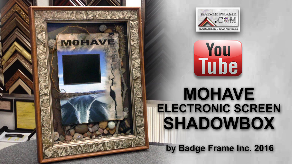 Electronic Shadowbox Presentations from Badge Frame